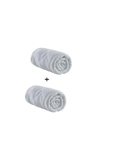 Komfort Home Çift Kişilik Microfiber Yorgan 1 Alana + 1 Hedıye Beyaz